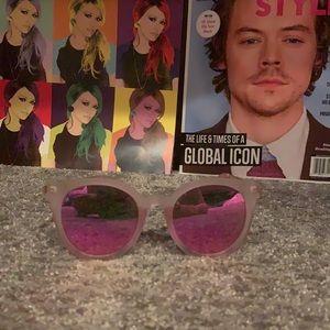 Pink reflective sunglasses